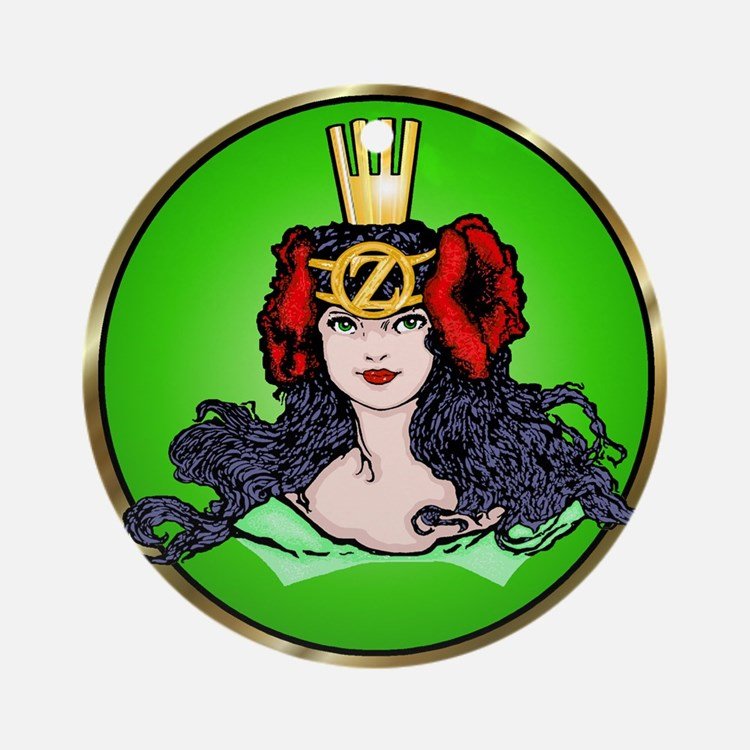 Ozma of Oz Green Ornament  (Round)