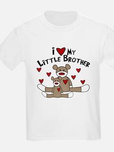 Love Little Brother SOCK Monkey T-Shirt