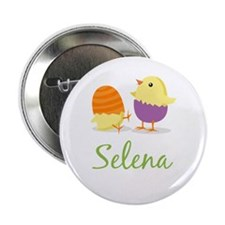 """Easter Chick Selena 2.25"""" Button"""