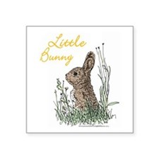 """Little Bunny"" Square Sticker 3"" x 3"""