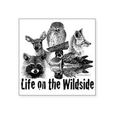 """""""Life on the Wildside"""" Square Sticker 3"""" x 3"""""""