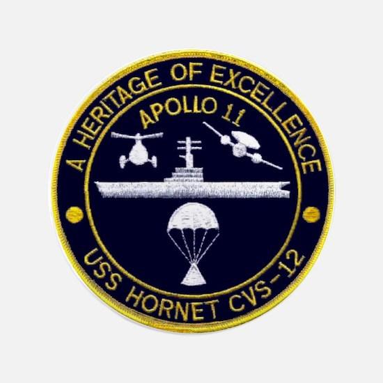 """USS Hornet Apollo 11 3.5"""" Button"""