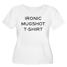 Ironic Mugshot T-shirt Plus Size T-Shirt