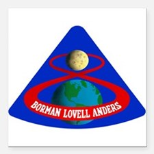 "Apollo 8 Square Car Magnet 3"" x 3"""