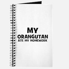 My Orangutan Ate My Homework Journal