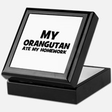 My Orangutan Ate My Homework Keepsake Box