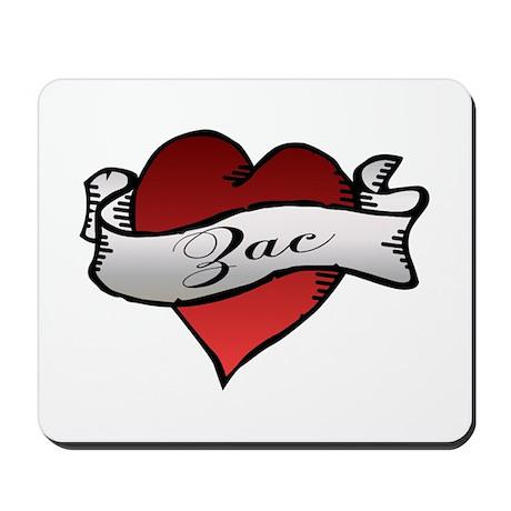Zac Heart Tattoo Mousepad