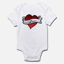 Zac Heart Tattoo Infant Bodysuit