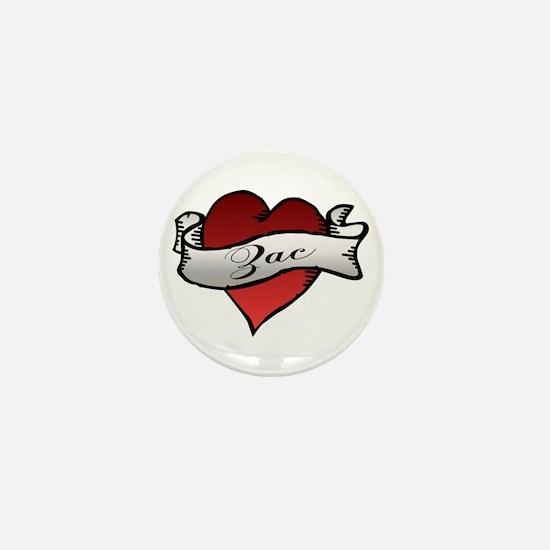 Zac Heart Tattoo Mini Button