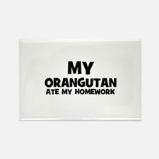 My Orangutan Ate My Homework Rectangle Magnet