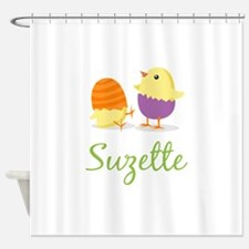 Easter Chick Suzette Shower Curtain