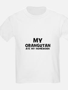 My Orangutan Ate My Homework Kids T-Shirt