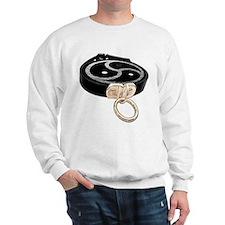 BDSM Emblem and Leather Collar Sweatshirt
