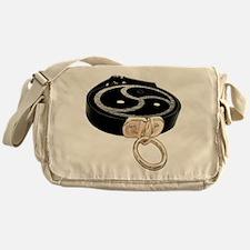 BDSM Emblem and Leather Collar Messenger Bag