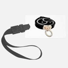 BDSM Emblem and Leather Collar Luggage Tag