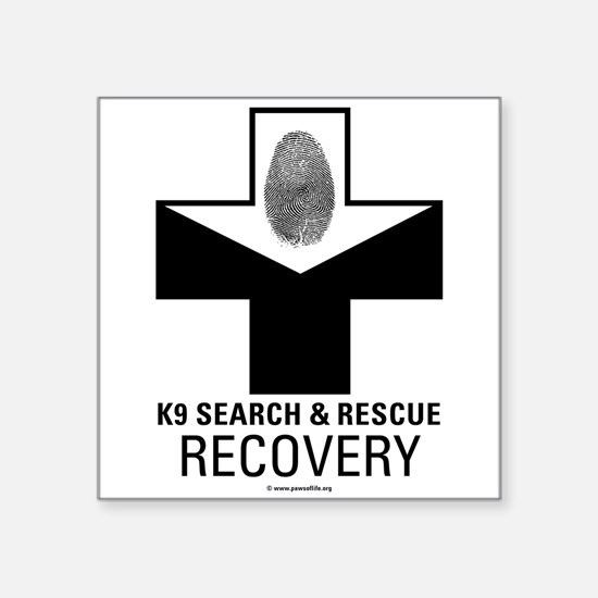 K9 Crosses - Recovery Rectangle Sticker