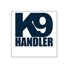Navy K9 Handler Rectangle Sticker