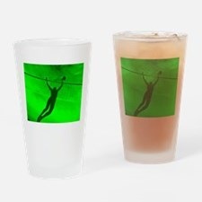 VOLLEYBALL GREEN Drinking Glass