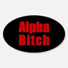 Alpha Bitch Oval Decal
