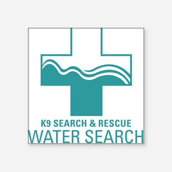 K9 Crosses - Water search Rectangle Sticker