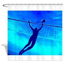 VOLLEYBALL BLUE Shower Curtain