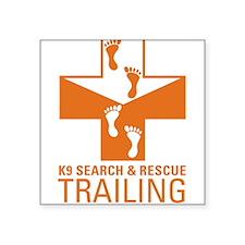 K9 Crosses - Trailing Rectangle Sticker