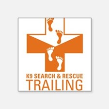 K9 Crosses - Trailing Rectangle Sticker
