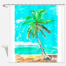 Unique Palm tree Shower Curtain