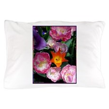 Tulips! Colorful spring flower photo! Pillow Case