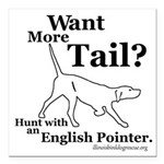 Pointer Tail Square Car Magnet 3