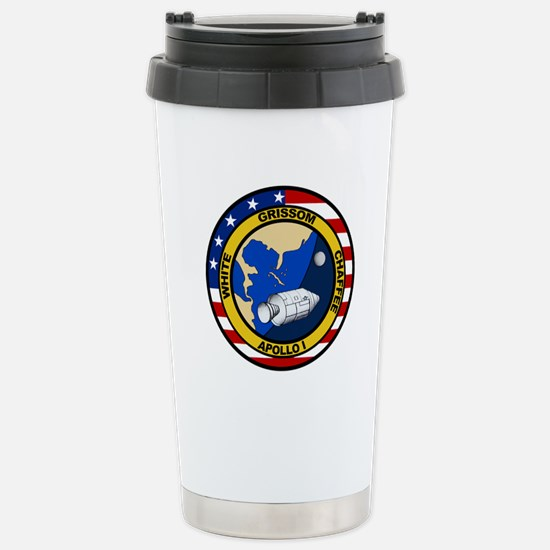 Apollo 1 Mission Patch Stainless Steel Travel Mug