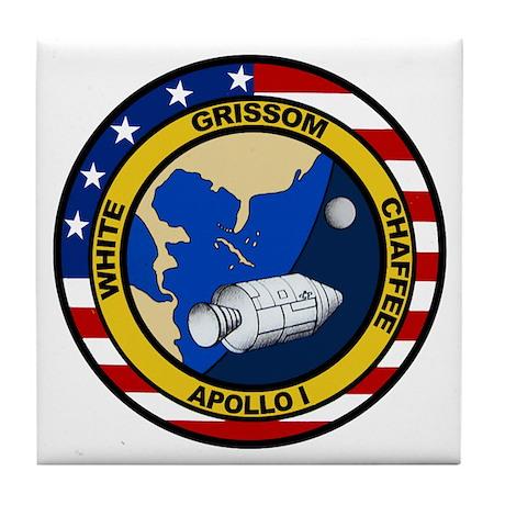 Apollo 1 Mission Patch Tile Coaster by quatrosales
