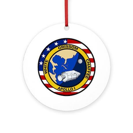 Apollo 1 Mission Patch Ornament (Round)