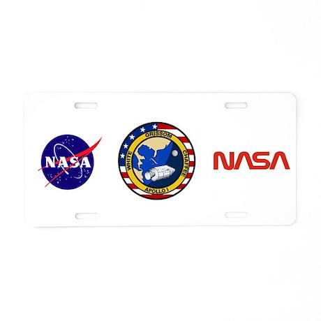 Apollo 1 Mission Patch Aluminum License Plate