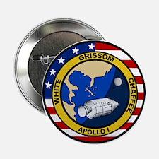 """Apollo 1 Mission Patch 2.25"""" Button"""