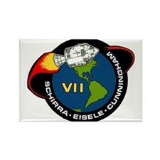 Apollo 7 Mission Patch Rectangle Magnet
