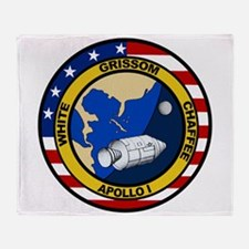 Apollo 1 Mission Patch Throw Blanket