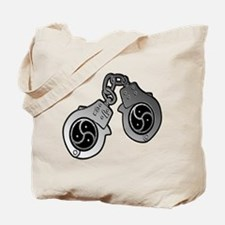 Metal Handcuffs and BDSM Symbol Tote Bag