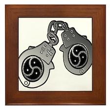 Metal Handcuffs and BDSM Symbol Framed Tile