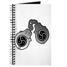 Metal Handcuffs and BDSM Symbol Journal