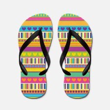 Hearts and Stripes Flip Flops