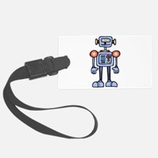 Sheldon Blue Robot Luggage Tag