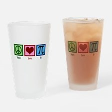 Peace Love Pi Drinking Glass