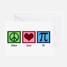 Peace Love Pi Greeting Card