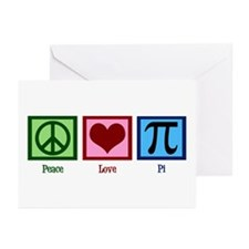 Peace Love Pi Greeting Cards (Pk of 20)