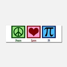 Peace Love Pi Car Magnet 10 x 3