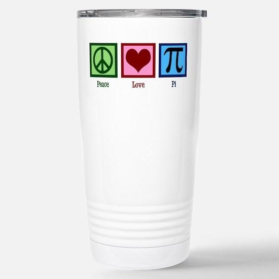 Peace Love Pi Stainless Steel Travel Mug
