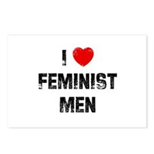I * Feminist Men Postcards (Package of 8)
