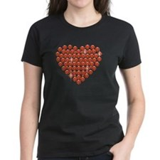 Rhinestone Filled Heart T-Shirt