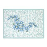 baby blue flowers 5'x7'Area Rug